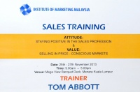View the album TM Training By: Tom Abbot, 25 - 27 Nov 2013 @ Menara Kuala Lumpur