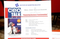 "View the album ceoTALK - ""Pioneering Business Transformation"" by Ybhg. Dato' Hafsah Hashim, CEO SME Corporation Malaysia, 21 March 2014 @ SME Corp. Malaysia, Kuala Lumpur Sentral"