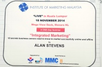 View the album Integrated Marketing by Alan Stevens, 18 November 2014 @ Menara Kuala Lumpur